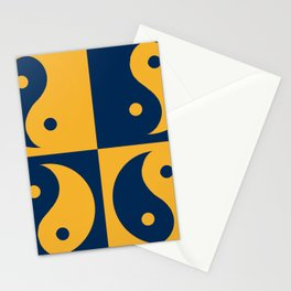 Ying and yang, day and night, balance and harmony Stationery Cards