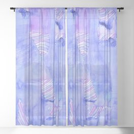 Obscured Candy Swirls Sheer Curtain