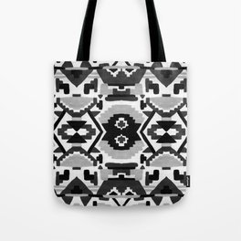 Geometric Aztec - black and white Tote Bag