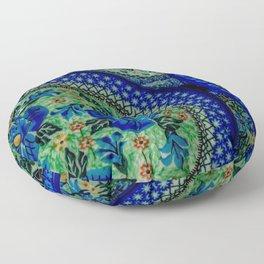 Blue circle pattern poster Floor Pillow