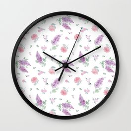 Daphne Floral Watercolor Wall Clock
