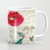 romantic Mugs featuring Romantic by Susann Mielke