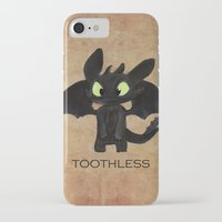 toothless iPhone & iPod Cases featuring Toothless  by Walko
