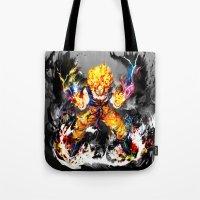 goku Tote Bags featuring Goku by ururuty