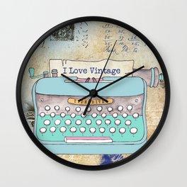 Typewriter #3 Wall Clock