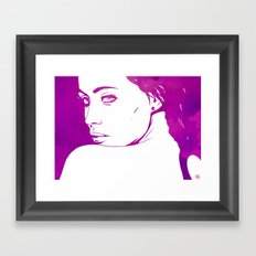 Back Look Framed Art Print