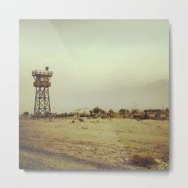 Manzanar Watchtower Metal Print