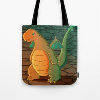patrick Tote Bags featuring Patrick by Fernanda Frasson
