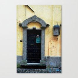 Door in Italian Village Canvas Print