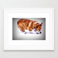 chuck Framed Art Prints featuring Chuck by Cathy Donohoue