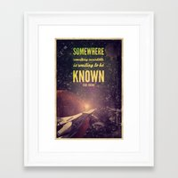 carl sagan Framed Art Prints featuring Space Exploration (Carl Sagan Quote) by taudalpoiart
