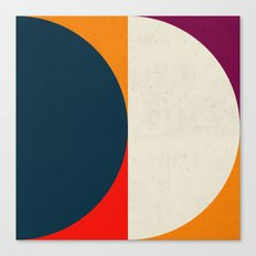Geometric abstract / half circles Canvas Print