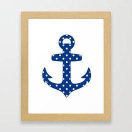 Levando Anclas Azul Framed Art Print