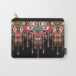 Modern Deco in Red and Black Carry-All Pouch