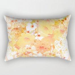 Apricot Nemesia Fractal Rectangular Pillow