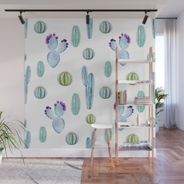 Cactus Pattern 01 Wall Mural