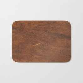 Old Tan Leather Print Texture | Cowhide Bath Mat