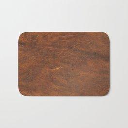 Old Tan Leather Print Texture | Cowhide Bath Mat