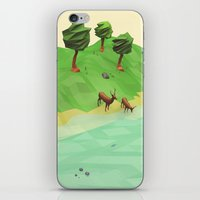 low poly iPhone & iPod Skins featuring Down River (Low Poly) by error23