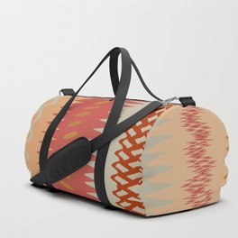 Assorted Zigzags And Waves Sienna Peach Grey Duffle Bag