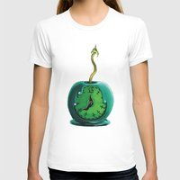 haunted mansion T-shirts featuring Haunted Mansion 13th Hour Clock Apple by ArtisticAtrocities