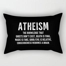 Atheism - Funny Definition Quote Anti Religion Atheist Gift Rectangular Pillow
