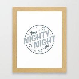 Nighty Night - Light Framed Art Print