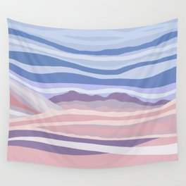 Mountain Scape // Abstract Desert Landscape Red Rock Canyon Sky Clouds Artistic Brush Strokes Wall Tapestry