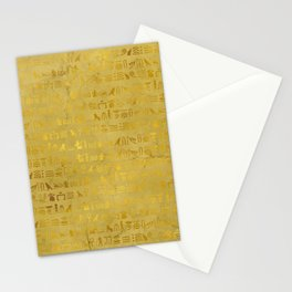 Gold Ancient Egyptian Hieroglyphic  Stationery Cards