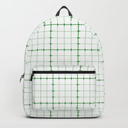 Dotted Grid Weave Green Backpack