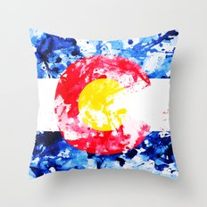 COLORADO PAINT FLAG Throw Pillow