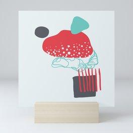 Abstract Mushroom Mini Art Print