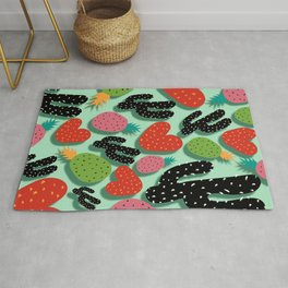 Cactus Love and Pineapples Rug