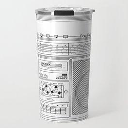 80s Boombox Travel Mug