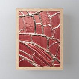 poste box red pattern entropy Framed Mini Art Print