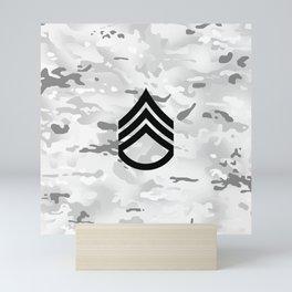 Staff Sergeant (Winter Camo) Mini Art Print