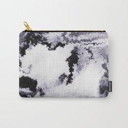 titanium white / carbon black / silver Carry-All Pouch