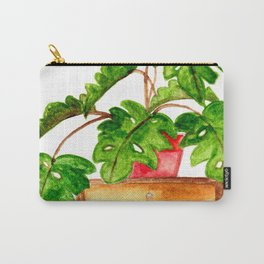 Monstera on a table Carry-All Pouch