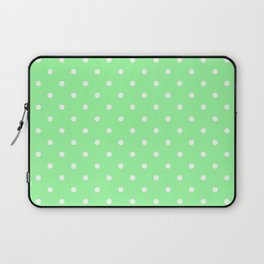 White Dots on Chrysoprase Laptop Sleeve