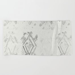 Simply Ikat Ink in Lunar Gray Beach Towel