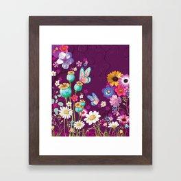 Purple Meadow Framed Art Print