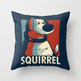 Squirrel Golden Retriever // Obama Hope, Dog for President, Elections Throw Pillow