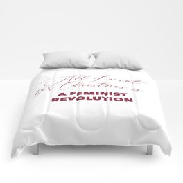 All I want for Christmas is A FEMINIST REVOLUTION Comforters