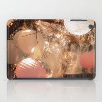 lanterns iPad Cases featuring Lanterns Rosy by Heidi Fairwood