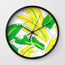 Banana Leaf Lovin' Wall Clock