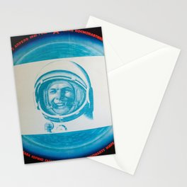 Russian Cosmonaut Poster Stationery Cards