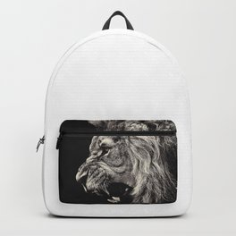 Angry Male Lion Backpack