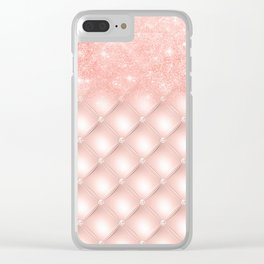Luxury Rosegold Glitter Pearl Clear iPhone Case