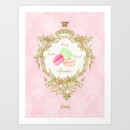French Patisserie Macarons Art Print