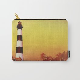 Painting of Bodie Island lighthouse at sunset in the Outer Banks (OBX) of North Carry-All Pouch